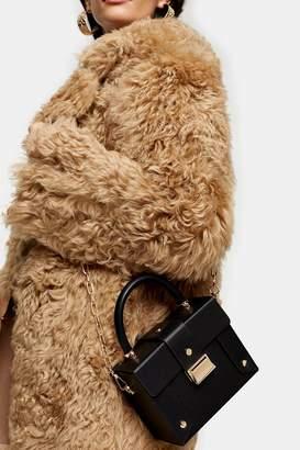 Topshop Womens Strobe Black Boxy Bag - Black