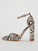 Public Desire Sofia Snake Print Heeled Shoes