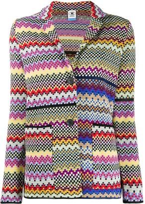 M Missoni Patchwork Knitted Blazer