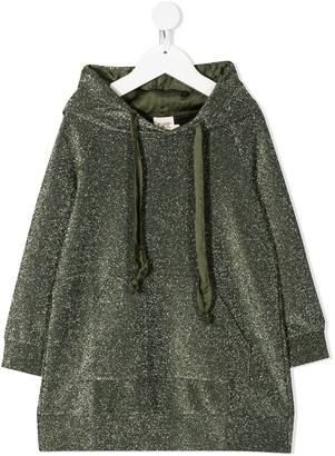 Caffe' D'orzo Long-Sleeve Hoodie Dress