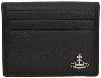 Vivienne Westwood Black Milano Bifold Card Holder