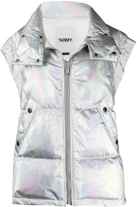 Army by Yves Salomon Holographic Down Gilet