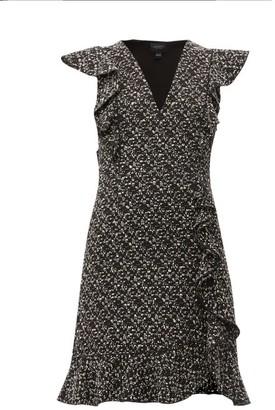 Giambattista Valli Ruffled Boucle Mini Dress - Womens - Black Multi