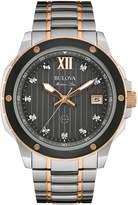 Bulova Men's Marine Star Two-Tone Diamond Bracelet Watch