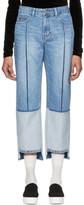 Sjyp Blue Tone-on-tone Tomboy Jeans