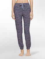 Calvin Klein Woven Viscose Abstract Pajama Pants