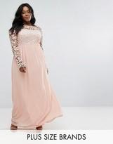 Club L Plus Lace Bodice Maxi Dress
