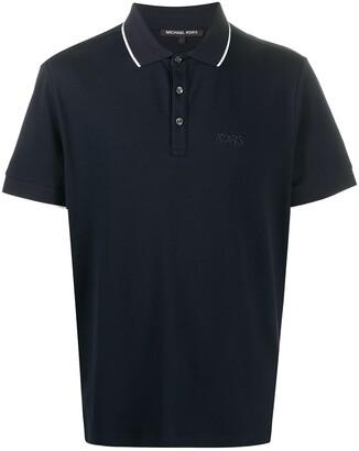 Michael Kors Embroidered Logo Polo Shirt