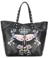 RED Valentino Women's Black Leather Tote.