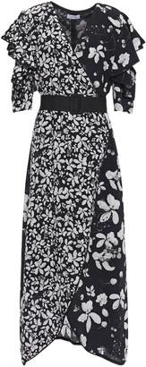 Isolda Wrap-effect Floral-print Silk Crepe De Chine Midi Dress