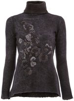 Avant Toi embroidered turtle neck sweater