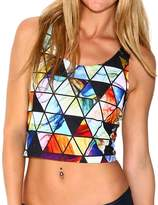 INTO THE AM Paragon All Over Print Rave Crop Top (Medium/Large)