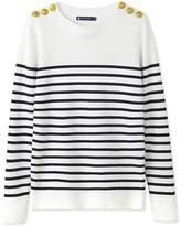 Petit Bateau Women's striped cotton sailor sweater