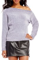 Gianni Bini Jenn One Shoulder Chenille Sweater