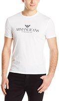Armani Jeans Men's Regular Fit Logo Crew Neck T-Shirt