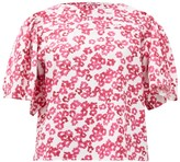 Merlette New York Canova Floral-print Cotton Blouse - Womens - Pink Print