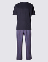 M&s Collection Pure Cotton Stay Soft T-shirt & Trousers Set