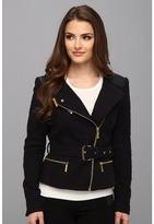MICHAEL Michael Kors Tweed Moto w/ Leather Jacket