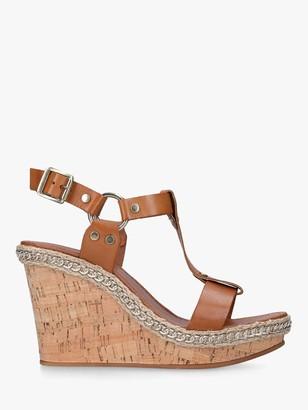 Carvela Karolina Leather High Heel Wedge Sandals