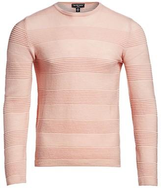 Saks Fifth Avenue MODERN Textured Stripe Merino Wool Sweater