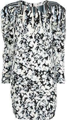 Dorothee Schumacher Puff-Sleeve Floral-Print Mini Dress