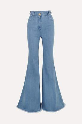 Balmain High-rise Flared Jeans - Light blue