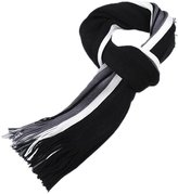 Anna-Kaci Men Classic Cashmere Shawl Winter Fringe Striped Tassel Long Scarf