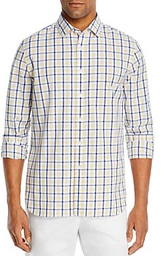The Men's Store at Bloomingdale's Cotton-Blend Checked Classic Fit Shirt - 100% Exclusive