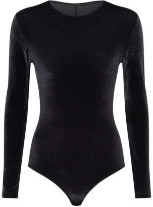 Maison Lejaby Velvet Mesh-Back Bodysuit