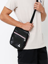 Le Coq Sportif New Mens Micro Messenger Bag In Black Pu Leather Bags