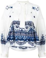 Sacai tribal lace printed blouse - women - Cotton/Polyester - 3