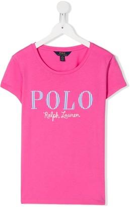 Ralph Lauren Kids TEEN logo-print crew neck T-shirt
