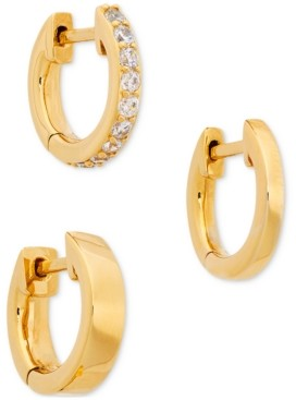 AVA NADRI 3-Pc. Cubic Zirconia Huggie Hoop Earrings