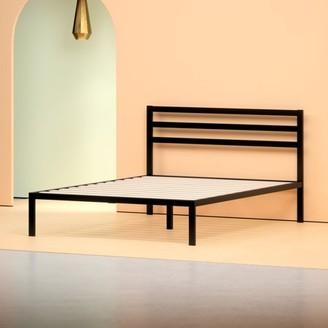 "Zinus Mia 14"" Black Metal Platform Bed with Headboard, Multiple Sizes"