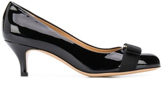 Salvatore Ferragamo Vara bow mid-heel pumps