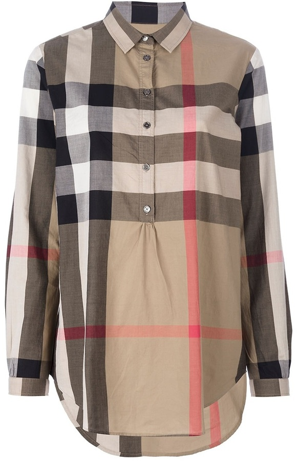 Burberry check blouse