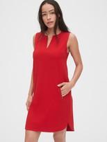 Gap Split-Neck Zip-Pocket Dress