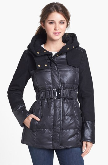 Kenneth Cole New York Quilted & Wool Blend Hooded Jacket (Online Only)