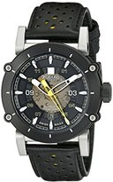 Zodiac Men's ZO8571 ZMX-2 Stainless Steel Watch with Black and Yellow Genuine Leather Band