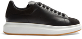 Alexander McQueen Raised-sole low-top suede and leather trainers