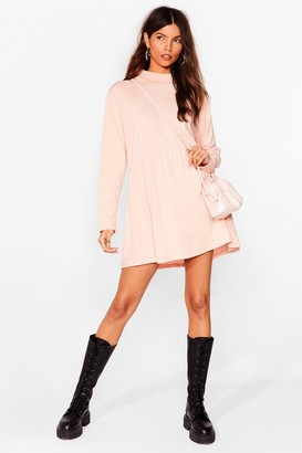 Nasty Gal Womens Smock Got Time High Neck Mini Dress - Pink - 4, Pink