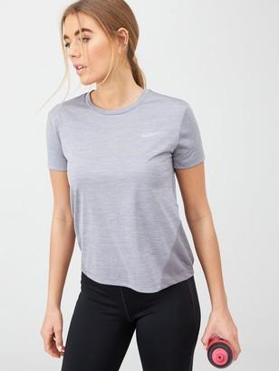 Nike Running Miler Tee - Grey