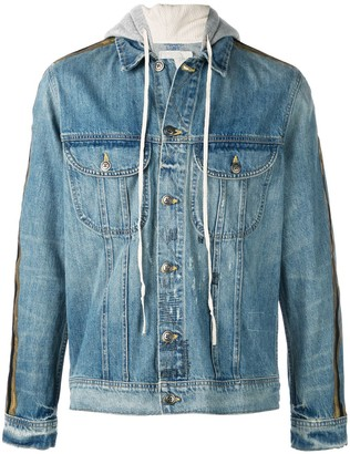 Greg Lauren Hooded Denim Jacket