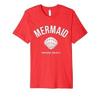 Cute Mermaid Shell Virginia Beach Vacation Teens Women Gift Premium T-Shirt