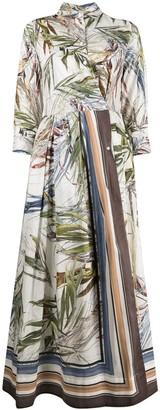Sara Roka Edna maxi shirt dress