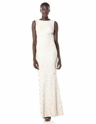 Dress the Population Women's Yvette Sleeveless Sequin Long Column Gown