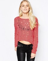 Only Dessi Hole Textured Sweater