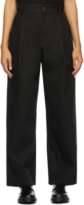 Studio Nicholson Black Seymour Trousers