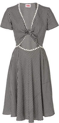 Solid & Striped Gingham Cutout Ponte Dress