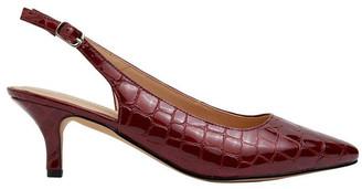 Sandler Nina Burgundy Patent Croc Heeled Shoes